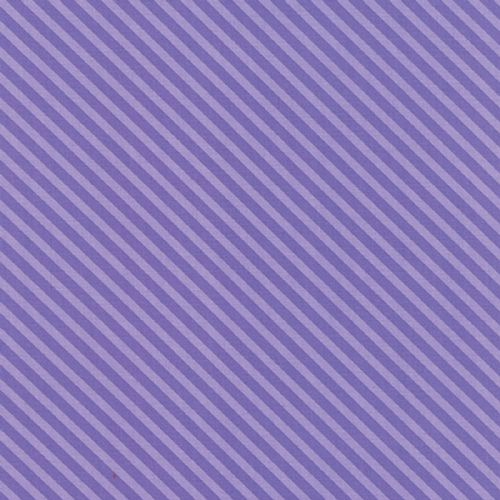 Moda - Dot Dot Dash, Stripe - Purple Cotton Quilting Fabric